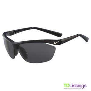 Nike Men's Tailwind Black Semi-Rimless Sunglasses